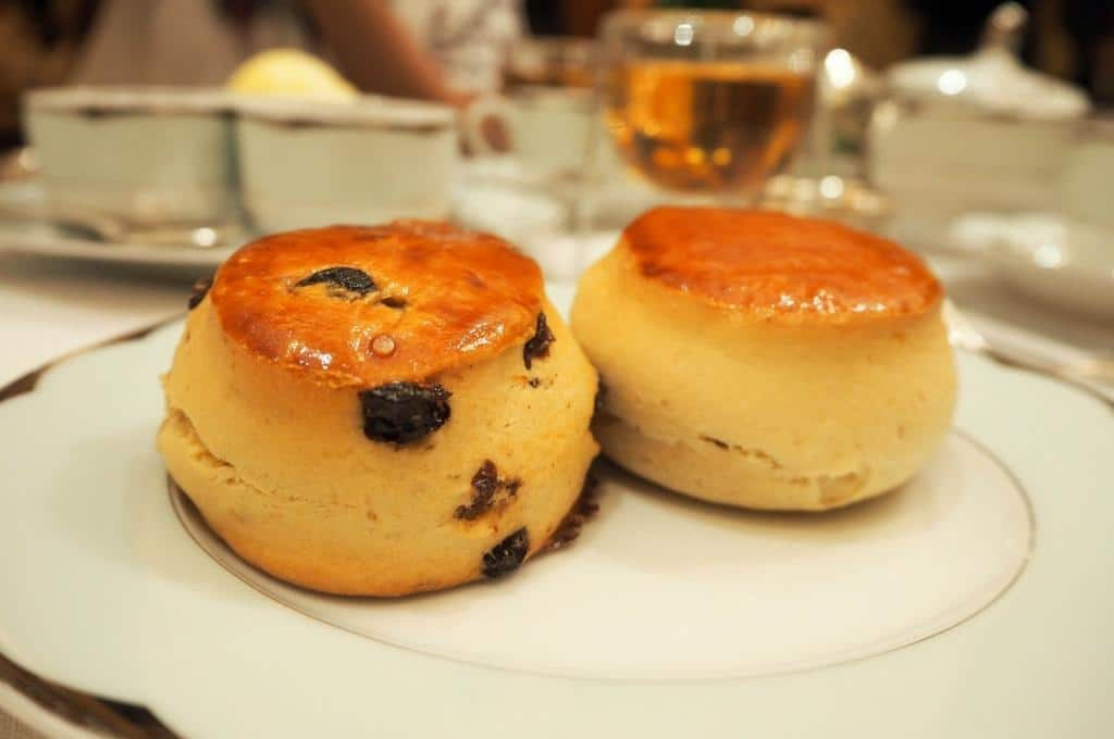 Scones at the Dorchester