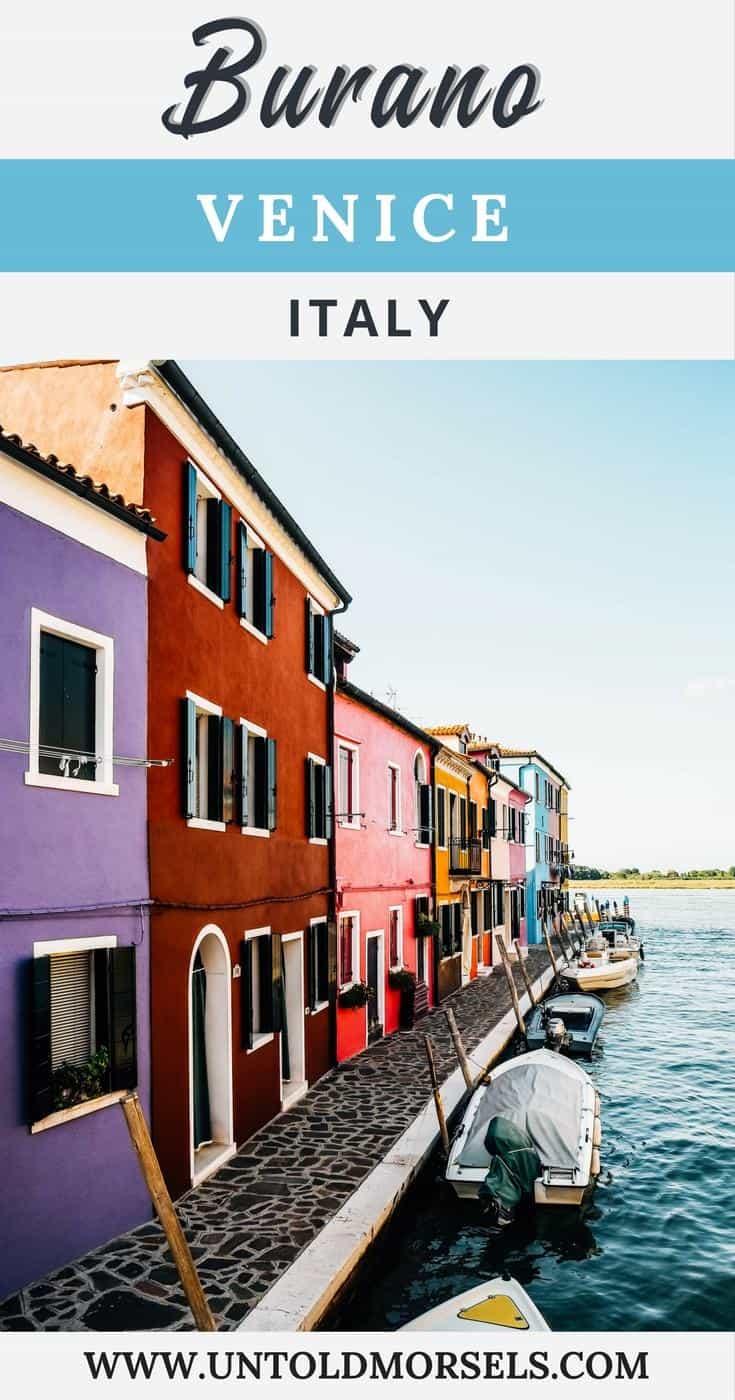 Burano Venice Italy - explore the colorful island of Burano in the Venetian Lagoon. Colorful houses in Italy.Venice island #venice