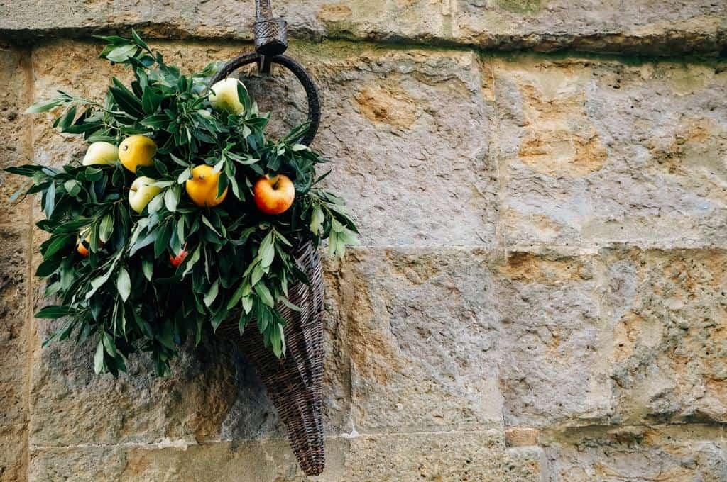 Harvest decorations in Pienza