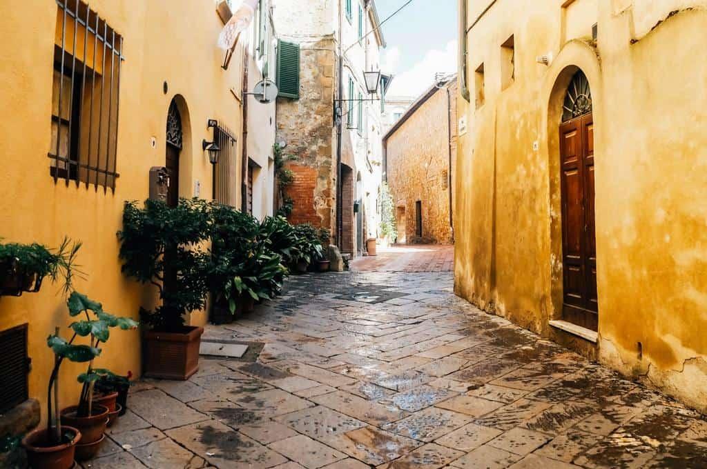 Romantic streets Pienza Italy