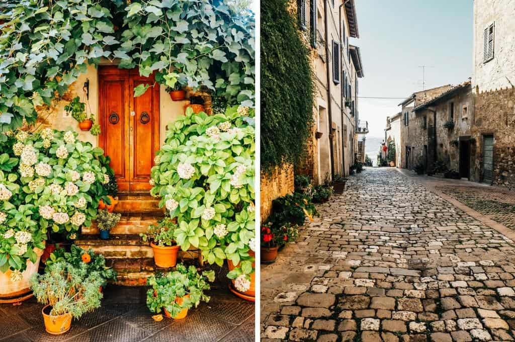 Streets of Pienza Tuscany