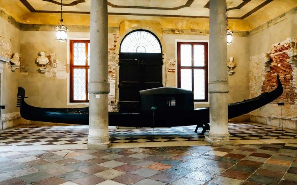 vintage gondola at ca rezzonico