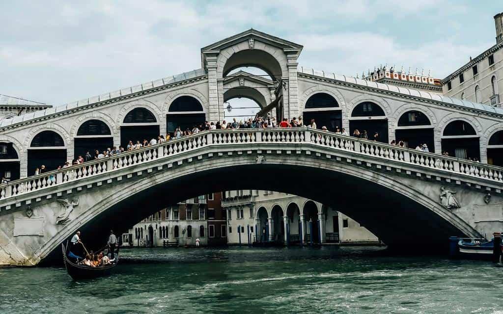 rialto bridge from the vaporetto