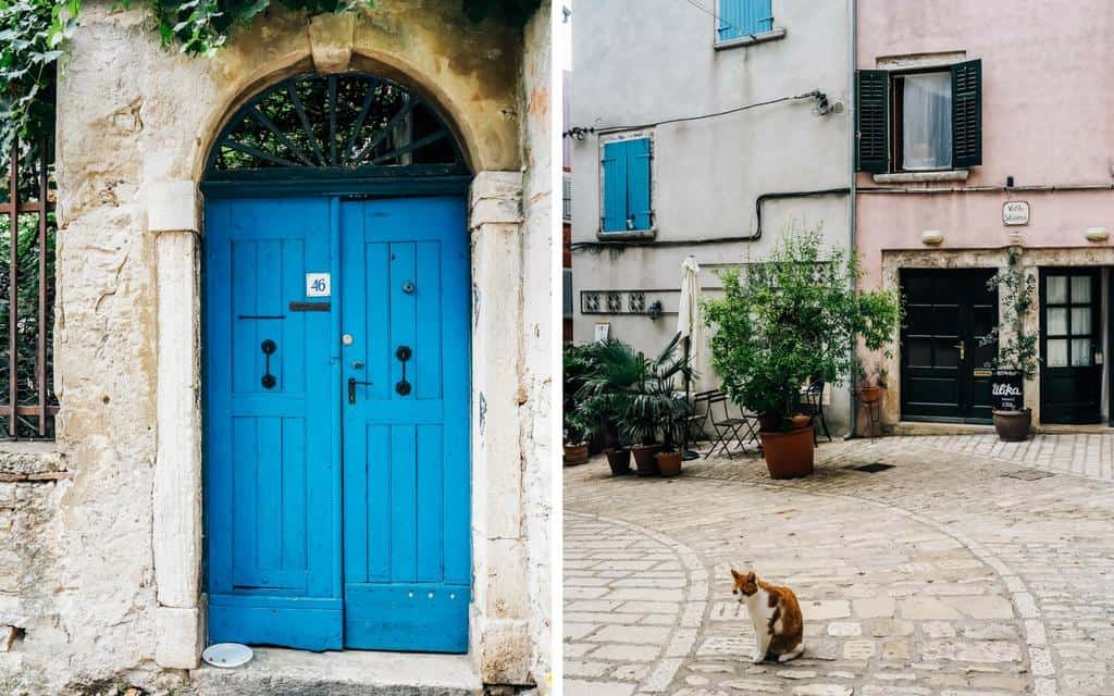 scenes from old town rovinj croatia