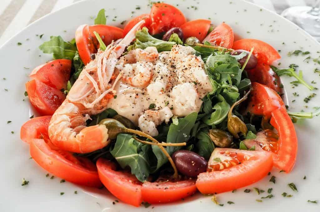 Seafood salad Piran Slovenia