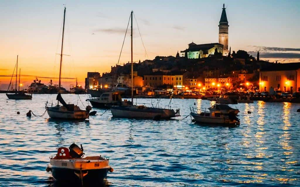 Sunset Rovinj old town