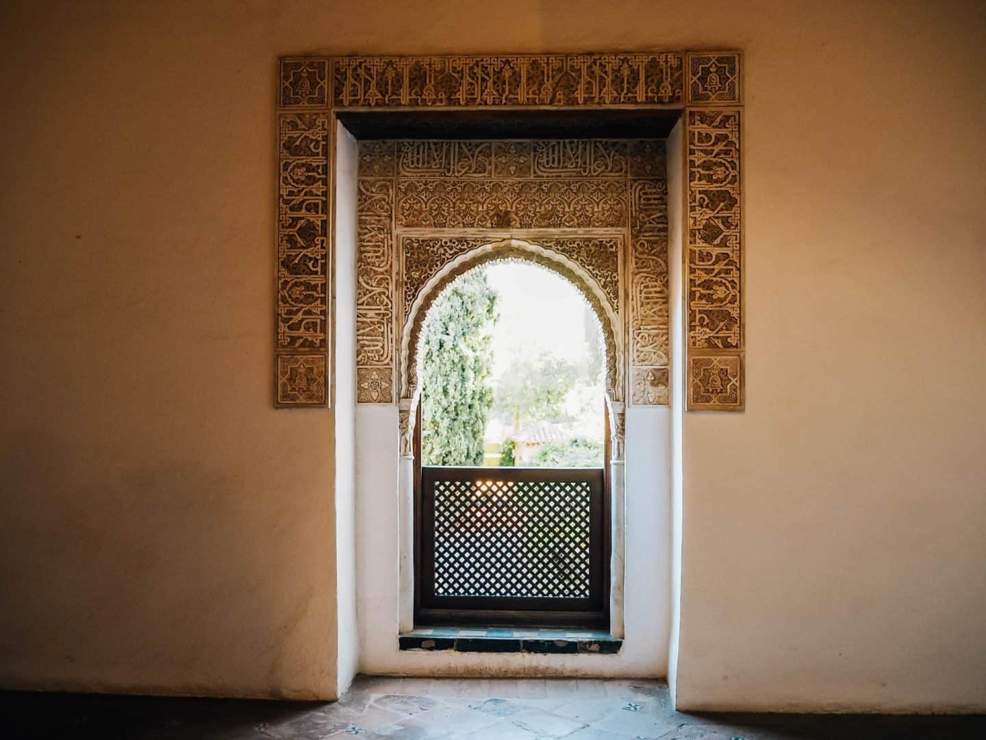 alhambra interior window
