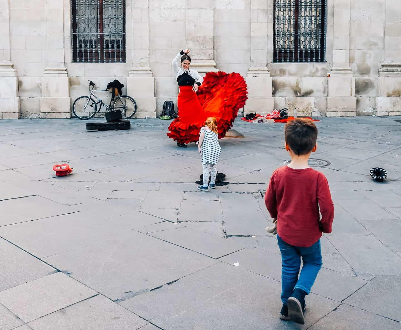flamenco street performance seville
