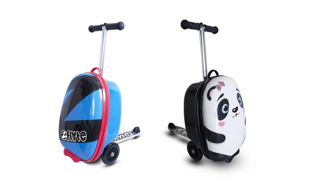 Our favourite family travel kit - kids scooter luggage