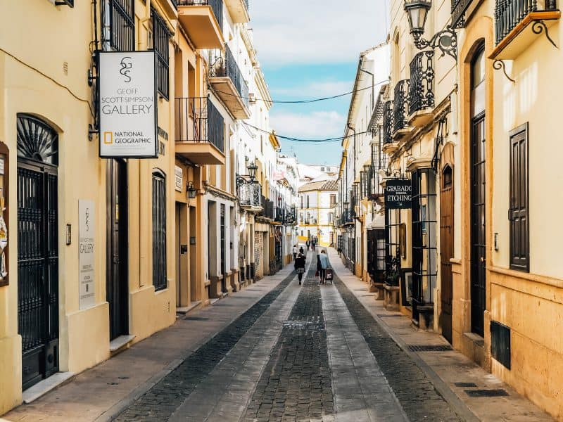 Ronda streets - things to do on a day trip to Ronda Spain