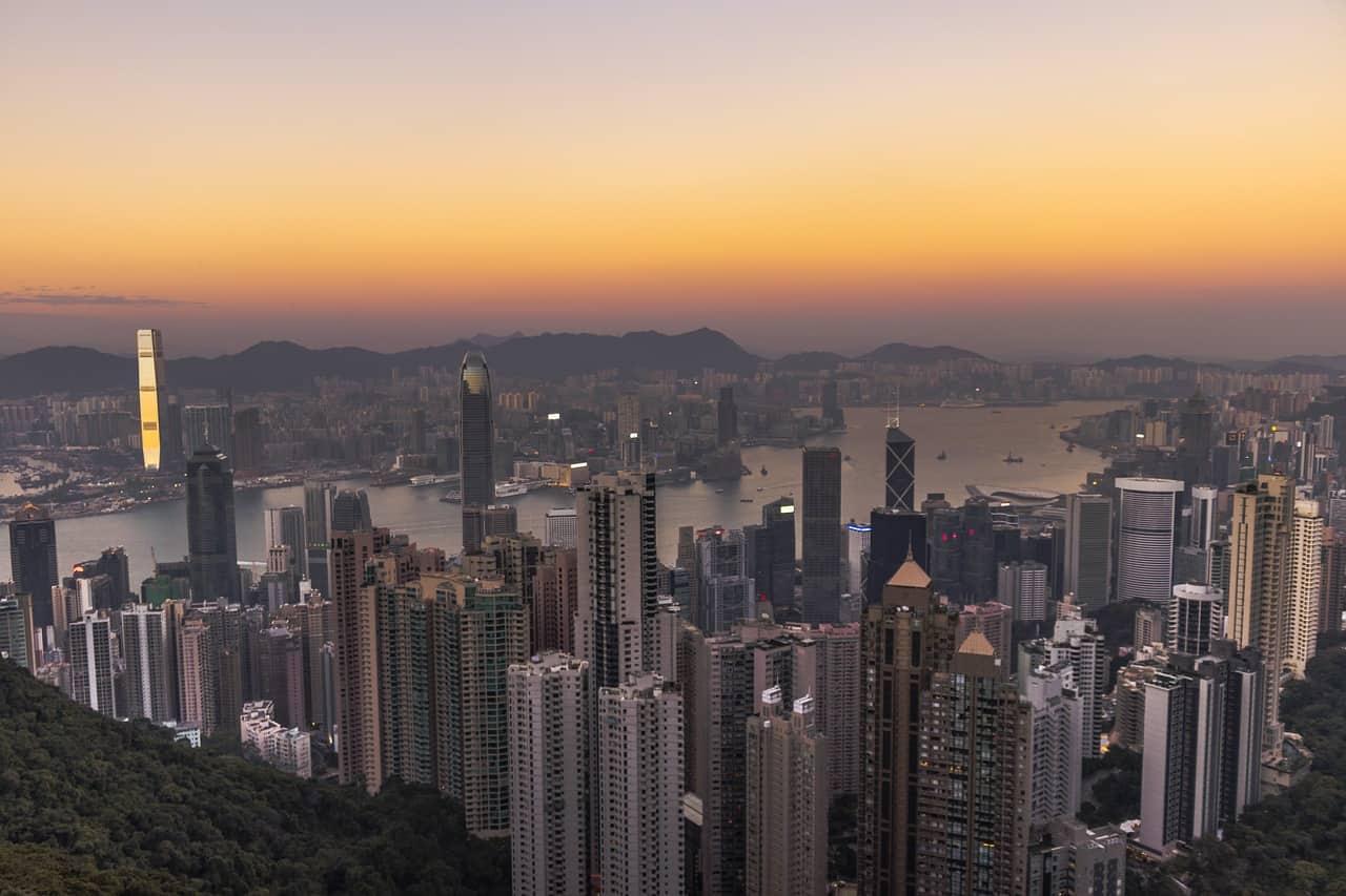 hong kong sunset view