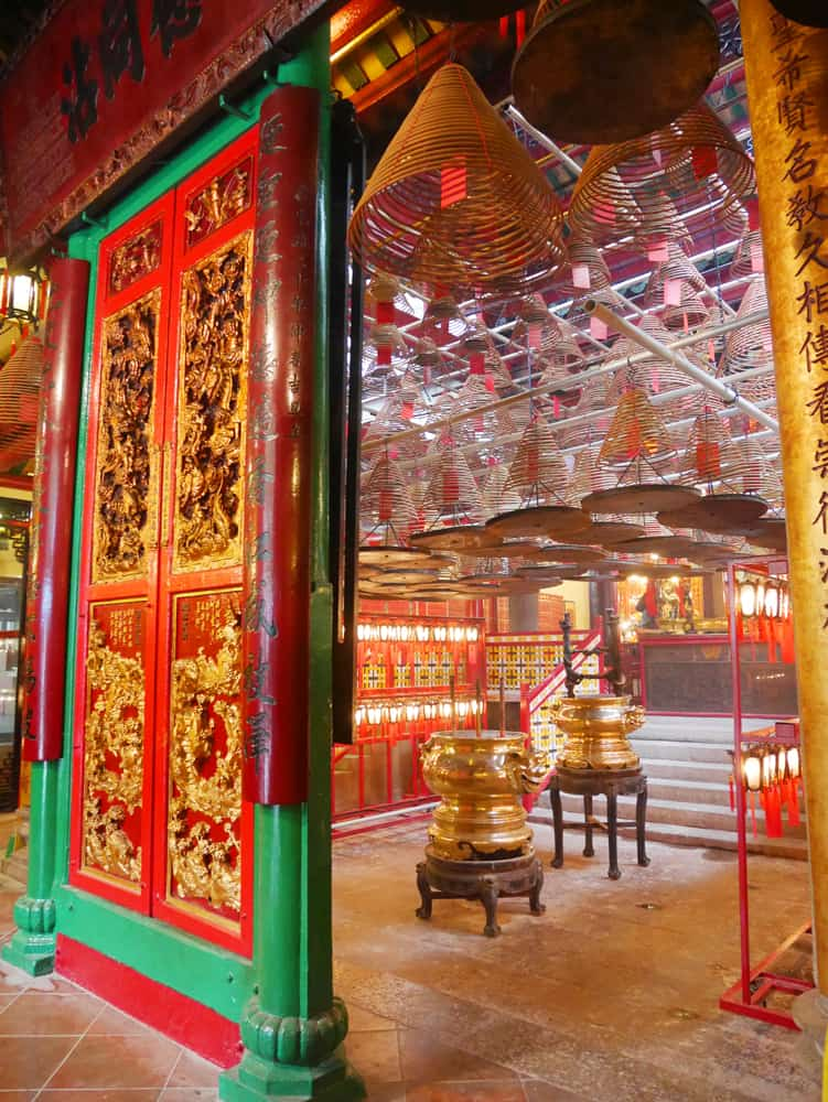 Inside Man Mo Temple - hong kong temples - what to do in Hong Kong in 3 days
