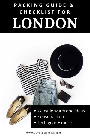 London packing guide 2019 - what to pack for your trip to London
