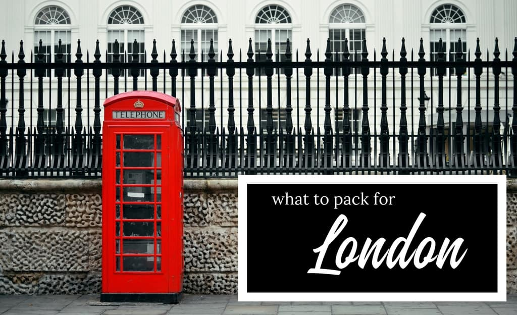 The Ultimate London Packing List Essential Items  Capsule Wardrobe
