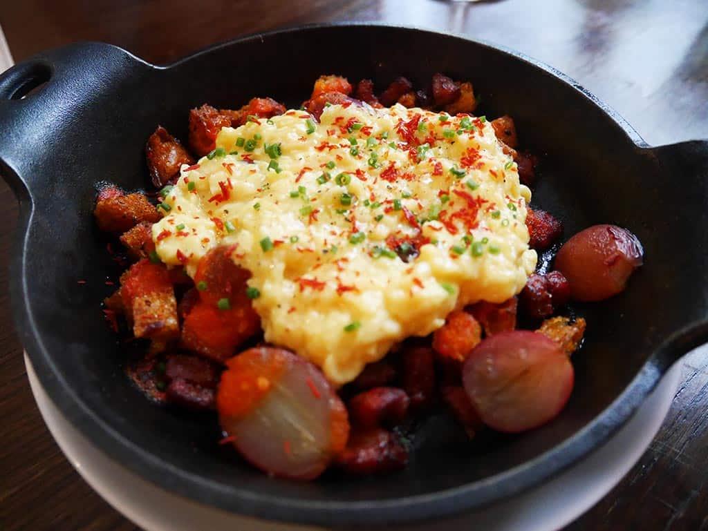 Scrambled egg at ham and sherry - hong kong food itinerary