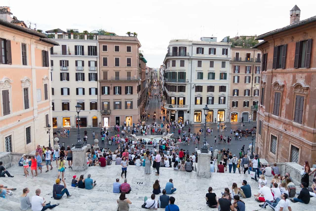 spanish steps rome bus tour
