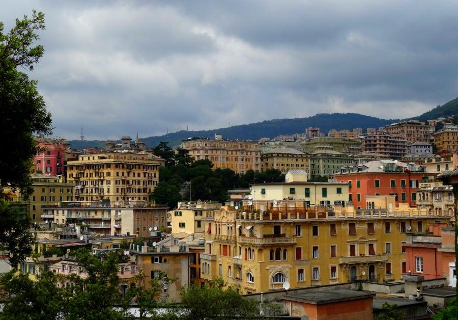 Genoa Italy cityscape
