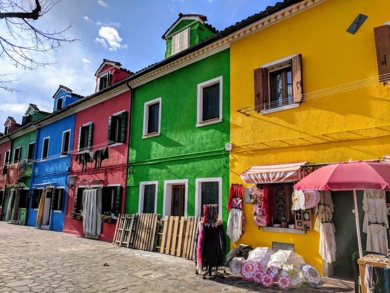 Burano - towns near venice italy