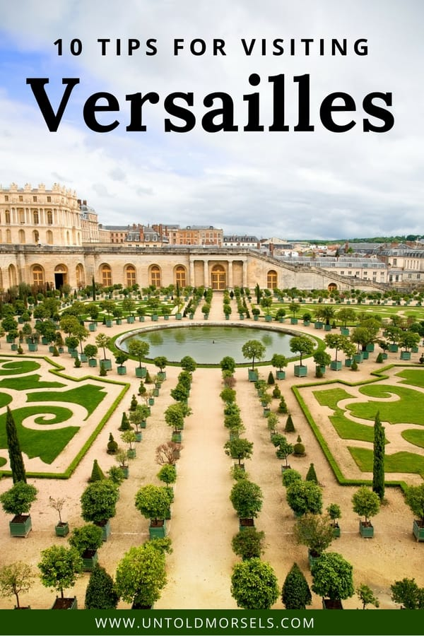 Versailles Palace France - a day trip from Paris to Versailles is a highlight of any trip to France. Here are our tips for visiting the magnificent chateau and gardens of Versailles. Don't miss the stunning Versailles interior, Hall of Mirrors, and Marie Antoinette's summer palace Le Petit Trianon #paris #france #traveltips