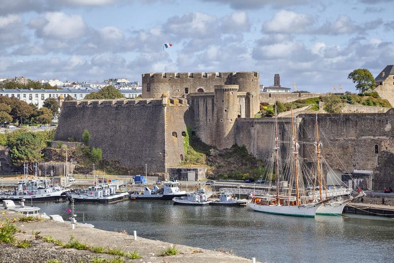 Brest Castle - cities in west france