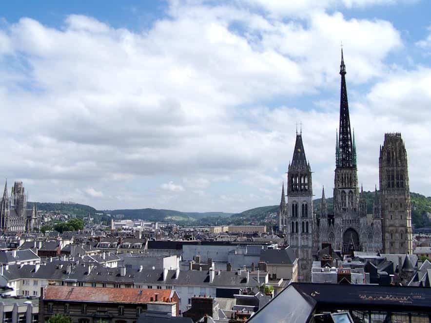 Rouen- cathedral city in the north of France