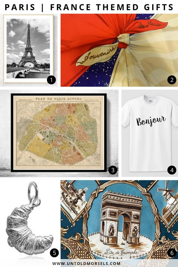 francophile paris themed gifts