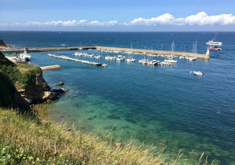 houat island brittany - french coastal towns