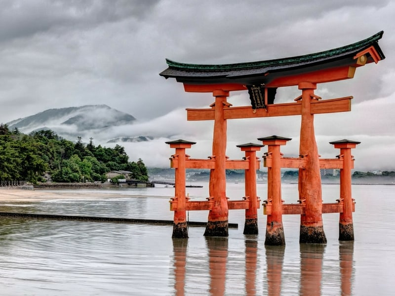 Japan adventure Itsukushima Shrine