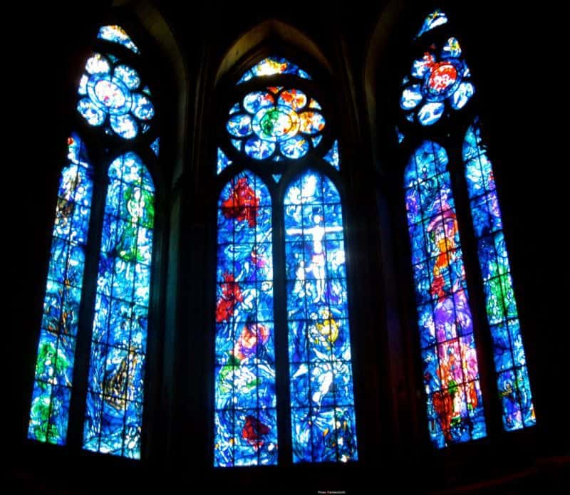 reims chagall window - cities to visit in france