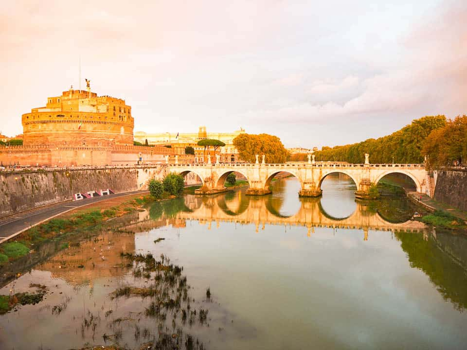 castel sant'angelo sunset rome