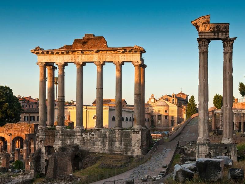 roman forum rome itinerary