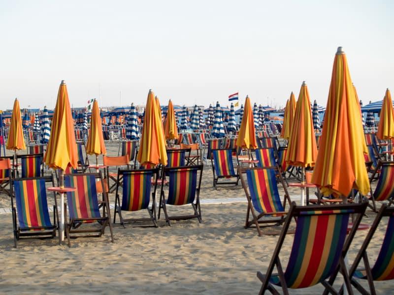 beaches near florence - viareggio