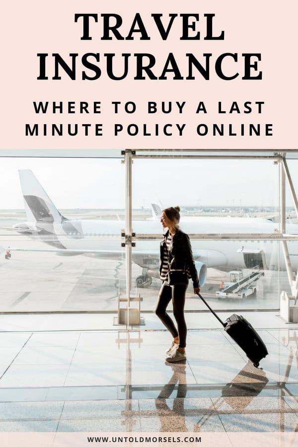 Travel tips - make sure you buy travel insurance before your trip