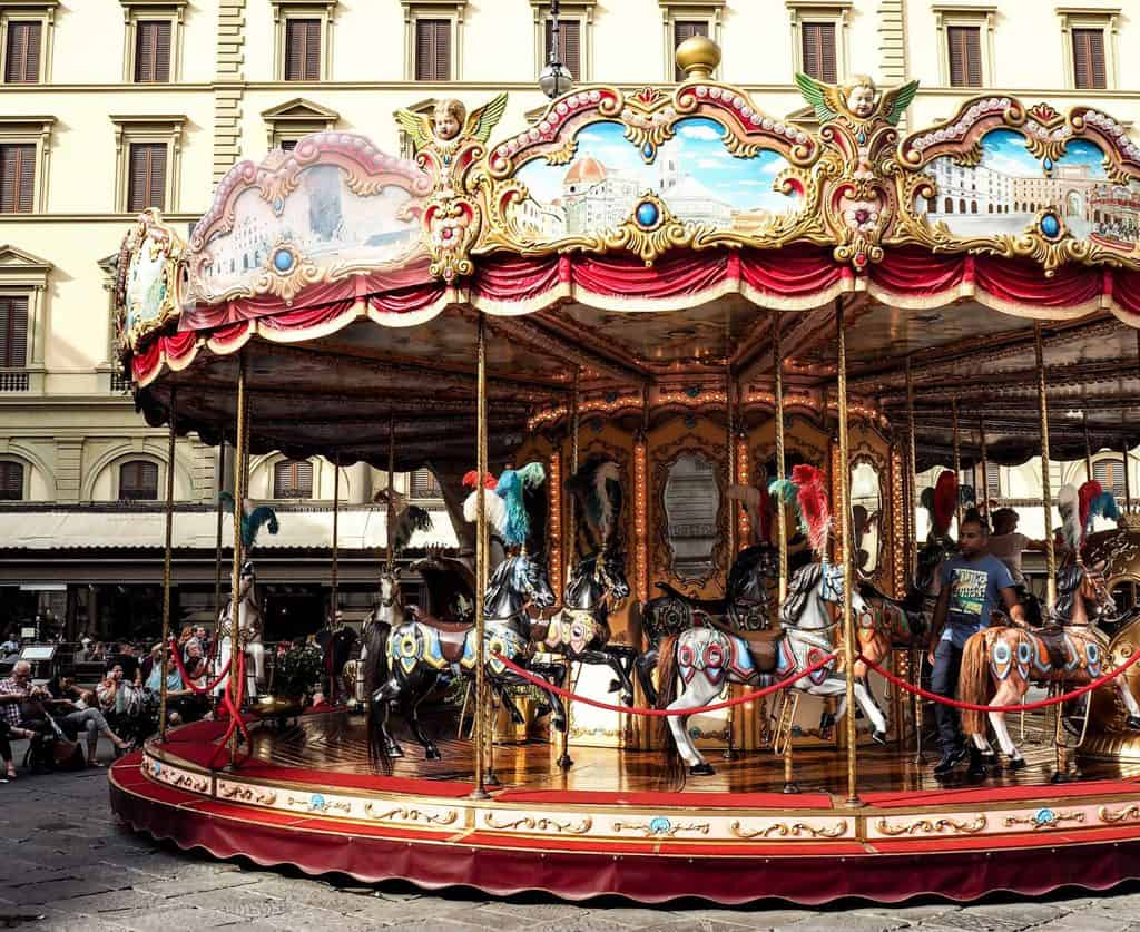 florence vintage carousel - best things to do in Florence with kids