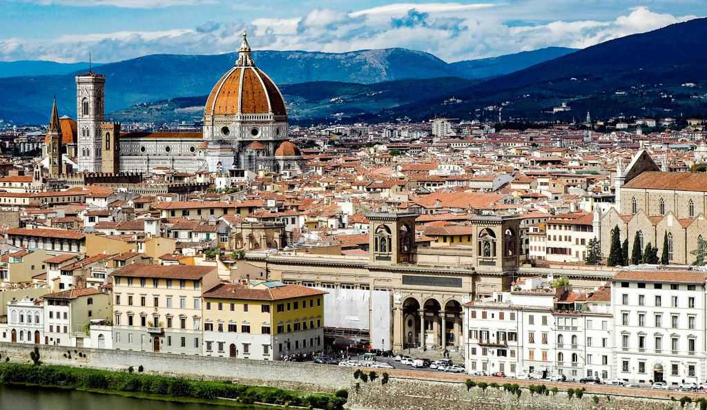 florence landmarks from piazzale michelangelo