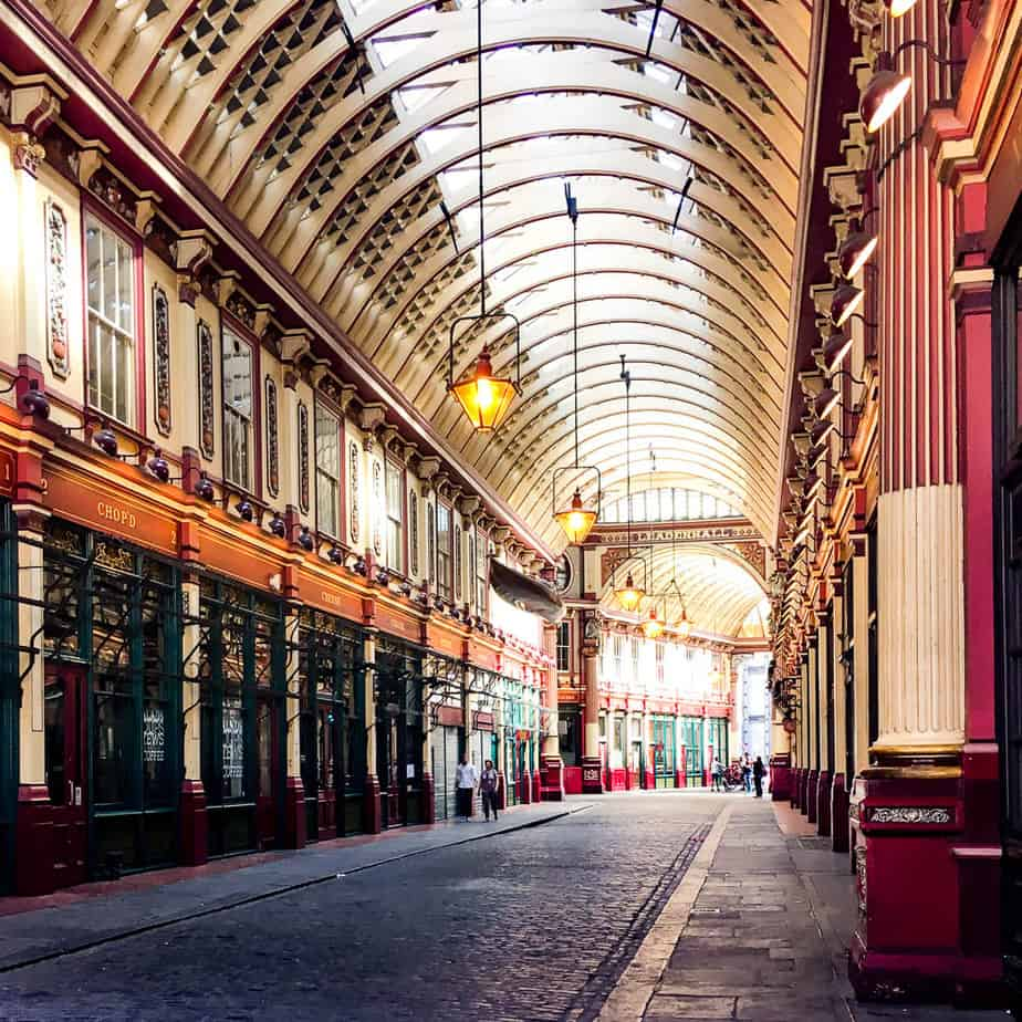 leadenhall market - harry potter sites in london