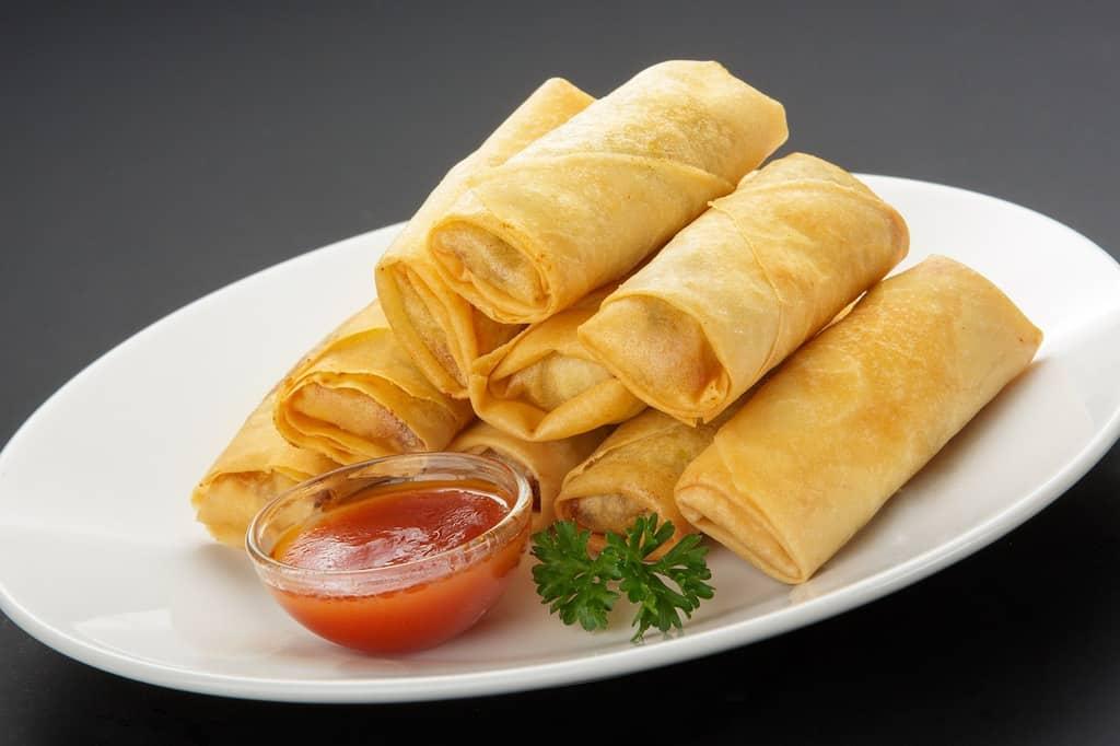spring rolls - thailand street food