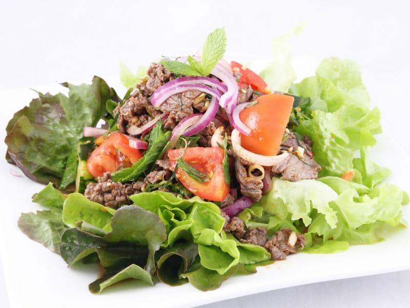 thai spicy beef salad - what is thai food