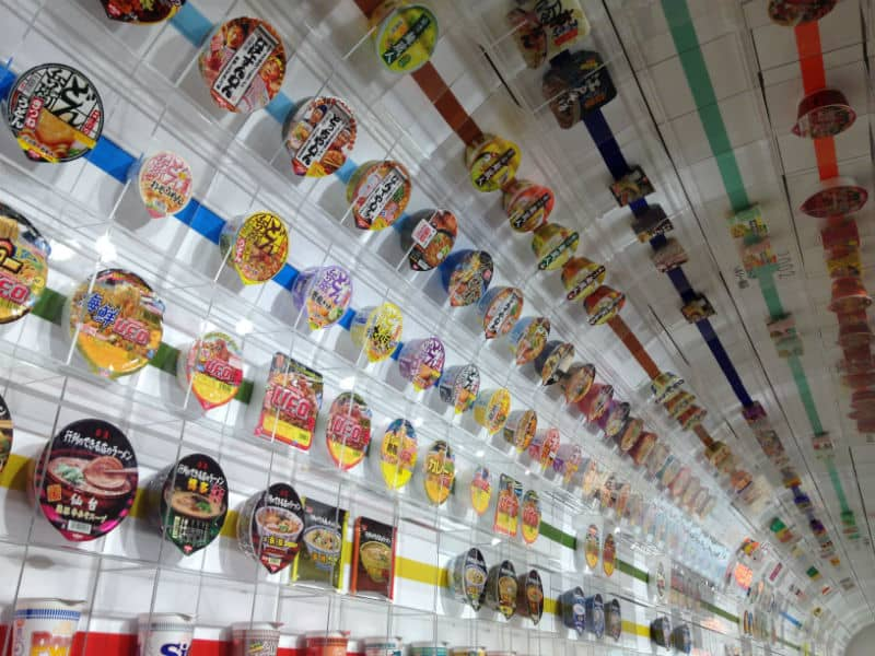 cup noodle museum - fun with kids in japan