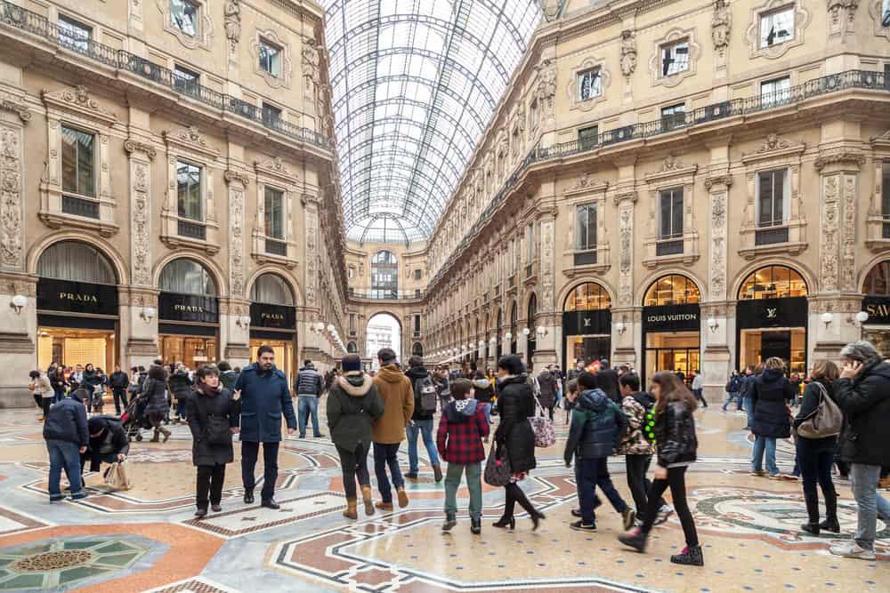 shopping - things to do on milan city break
