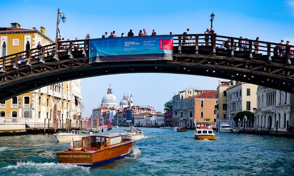 accademia bridge - sightseeing in venice italy