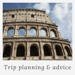 italy trip planning and advice
