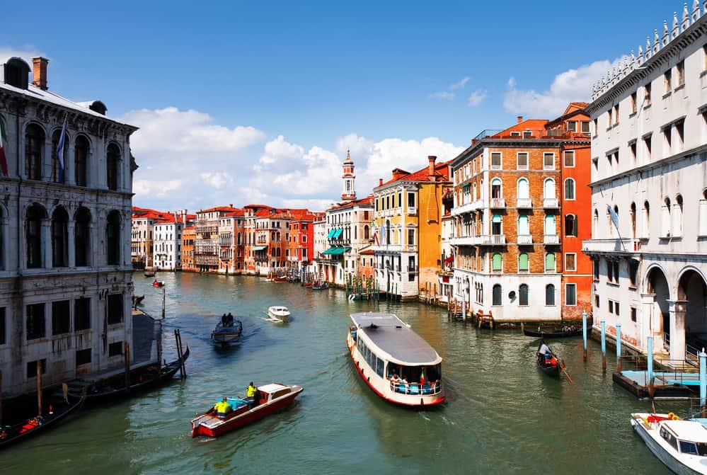 ride the vaporetto - grand canal venice italy