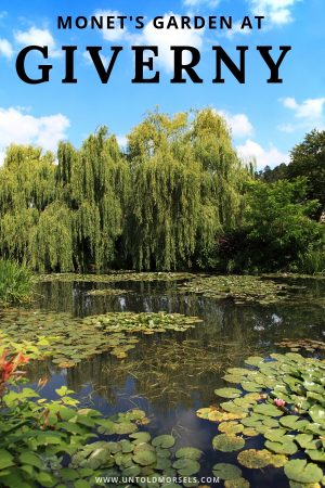 Giverny - Monet's garden is a favorite day trip from Paris