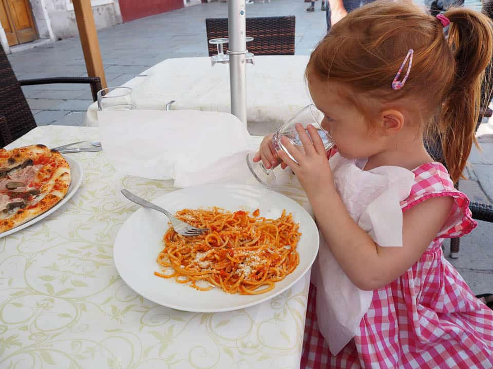 travel with kids in italy