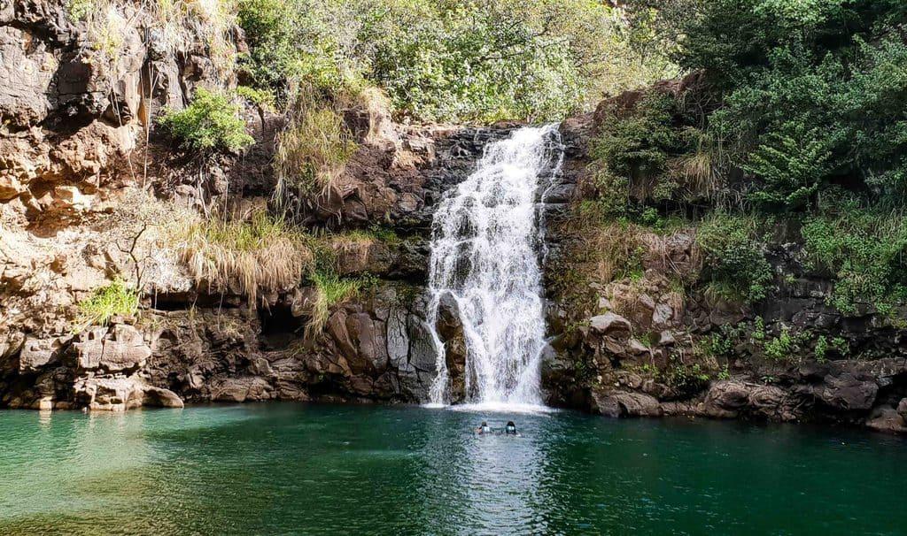 waimea valley waterfall north shore oahu