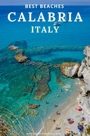 Calabria Italy - some of Italy's best beaches are in Calabria on the toe of the boot