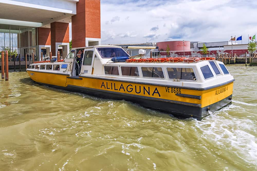 venice water bus from marco polo airport