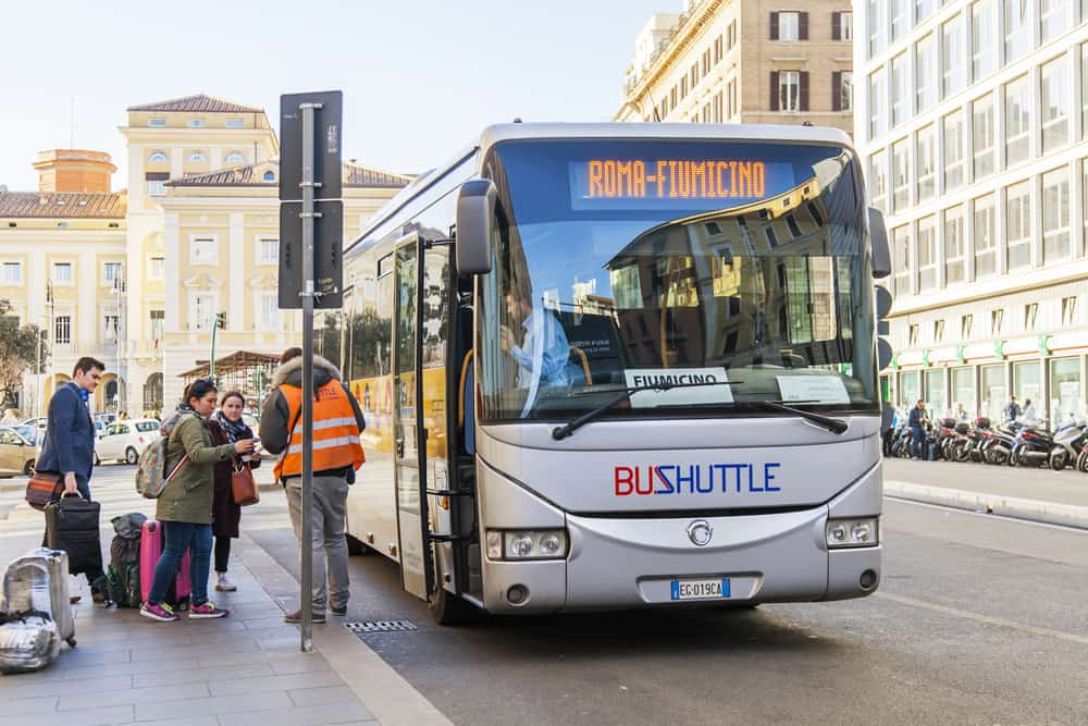 rome airport shuttle bus