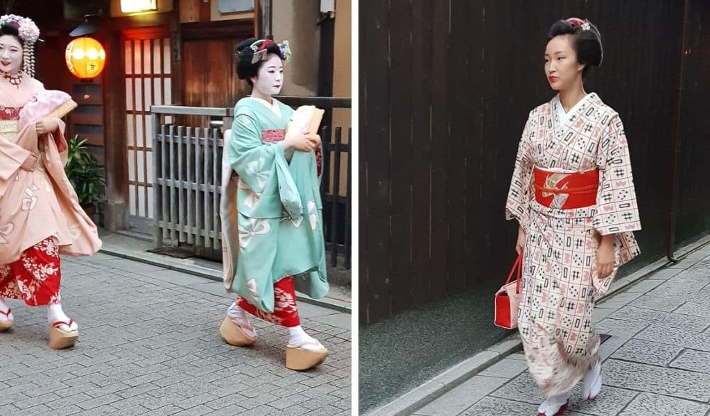 Geisha spotting in gion kyoto